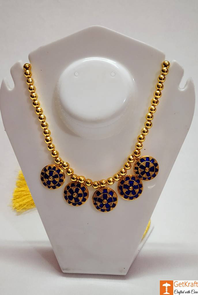 Assamese Traditional japi Haar Jewellery Set from Assam(#738)-gallery-0