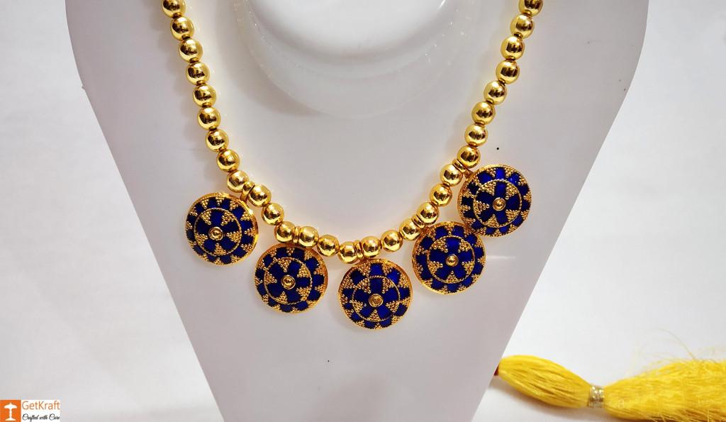 Assamese Traditional japi Haar Jewellery Set from Assam(#738)-gallery-1