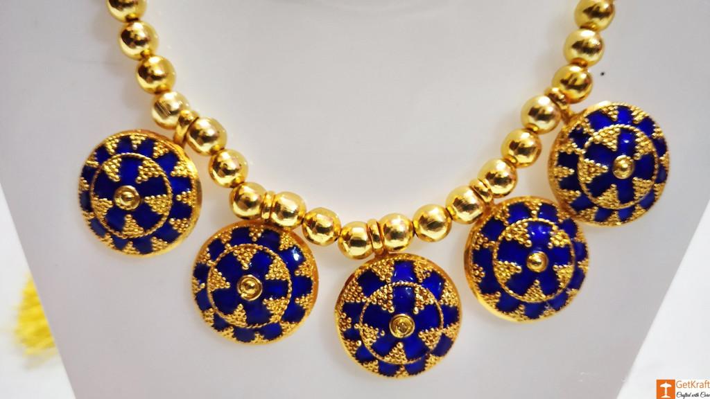 Assamese Traditional japi Haar Jewellery Set from Assam(#738)-gallery-2