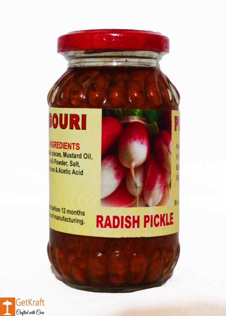 Muli or Mula Radish - Pickle 300g by Ms Gouri(#753)-gallery-0