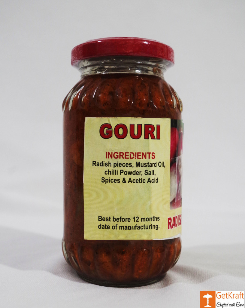 Muli or Mula Radish - Pickle 300g by Ms Gouri(#753)-gallery-2