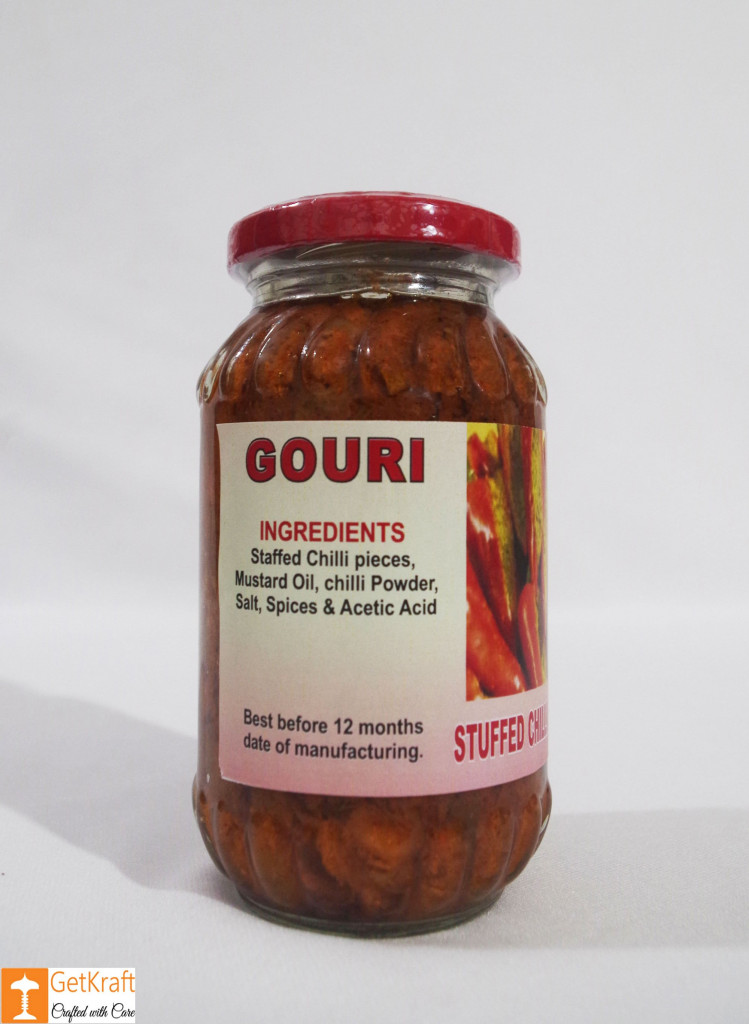 Stuffed Chilli Pickle 300g Stuffed Mirchi Achaar(#757)-gallery-1
