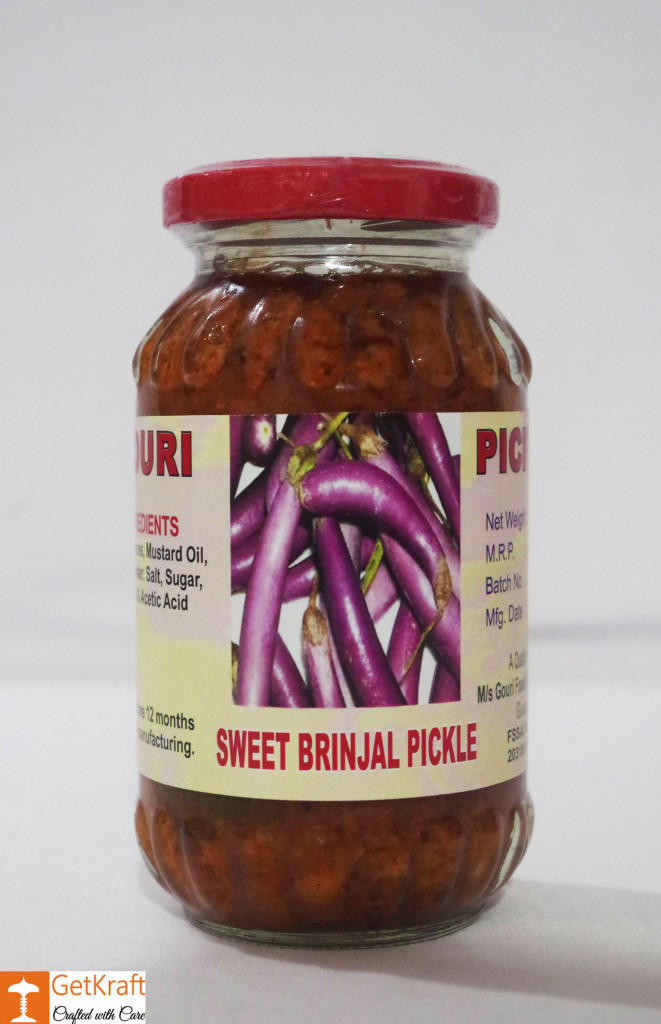 Sweet Brinjal Pickle by Ms Gouri 300g(#758)-gallery-0
