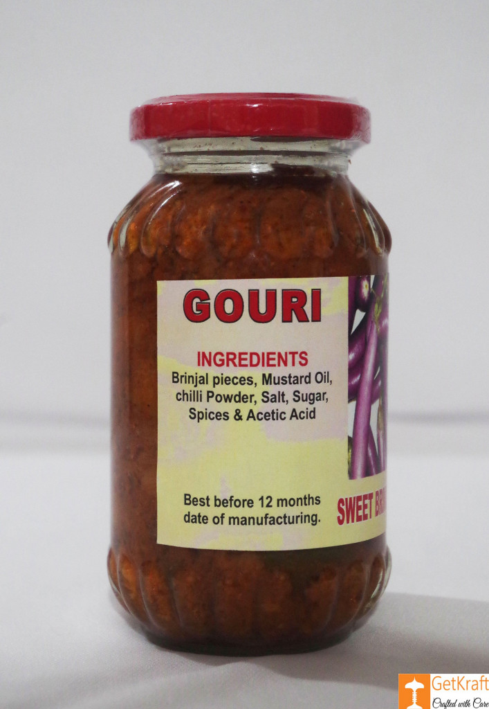 Sweet Brinjal Pickle by Ms Gouri 300g(#758)-gallery-1