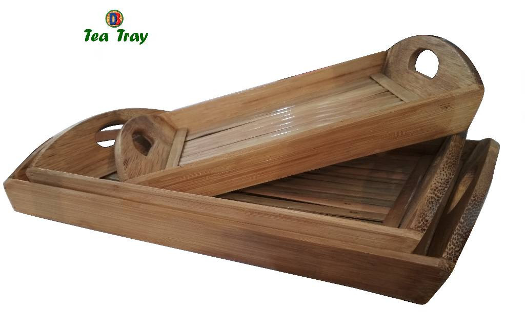 Bamboo Tea Trays Big - Medium - Small by DB Industries(#761)-gallery-0