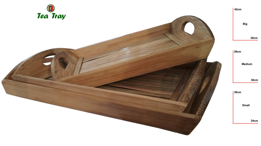 Bamboo Tea Trays Big - Medium - Small by DB Industries(#761)-gallery-1