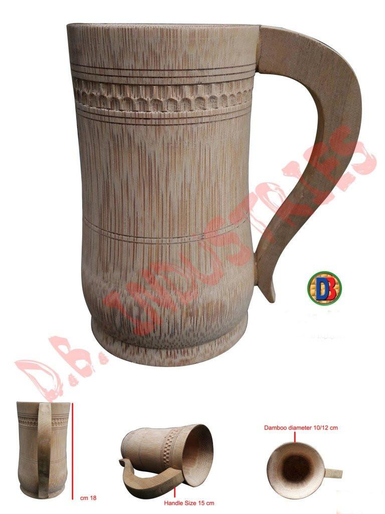 Coffee Tea Beer Mug made of Bamboo Small Medium Big(#764)-gallery-0