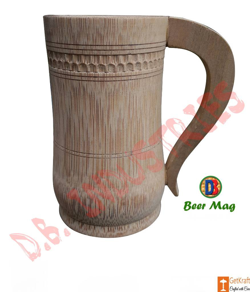 Coffee Tea Beer Mug made of Bamboo Small Medium Big(#765)-gallery-0