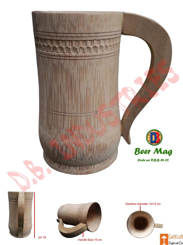 Coffee Tea Beer Mug made of Bamboo Small Medium Big(#765)-gallery-1