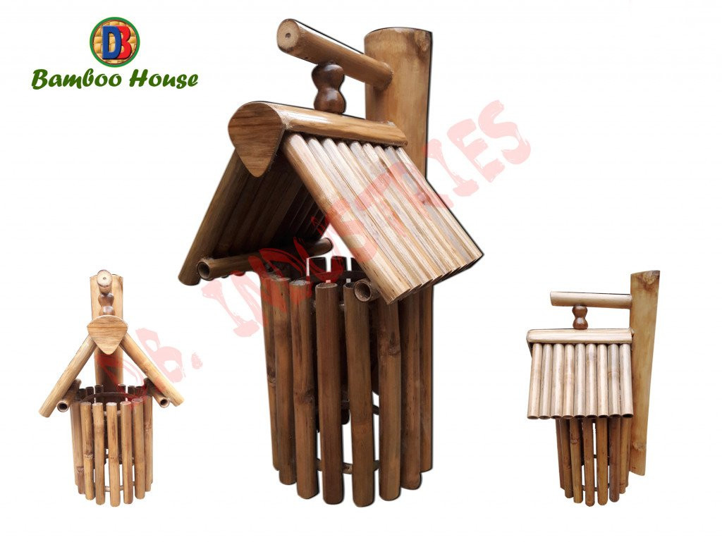 Bamboo House made in Assam Home Decor Bamboo Craftwork(#768)-gallery-0