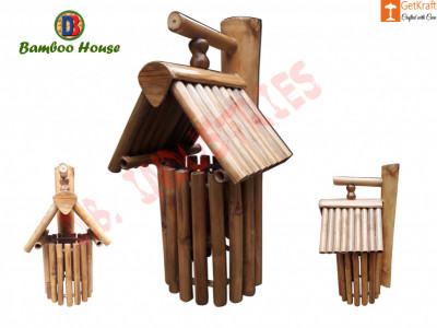 Bamboo House made in Assam Home Decor Bamboo Craftwork(#770)-gallery-0