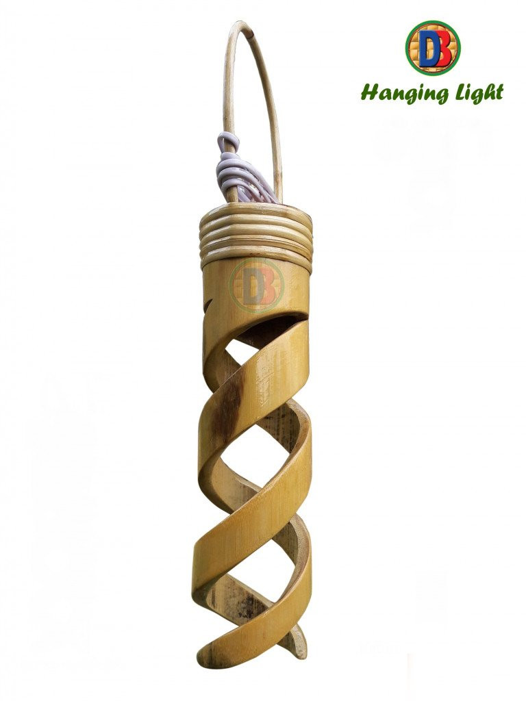 Bamboo Spiral Hanging Lamp by DB(#771)-gallery-0