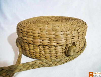 Natural Straw Stylish Handmade Round Sling Bag(#785)-gallery-0