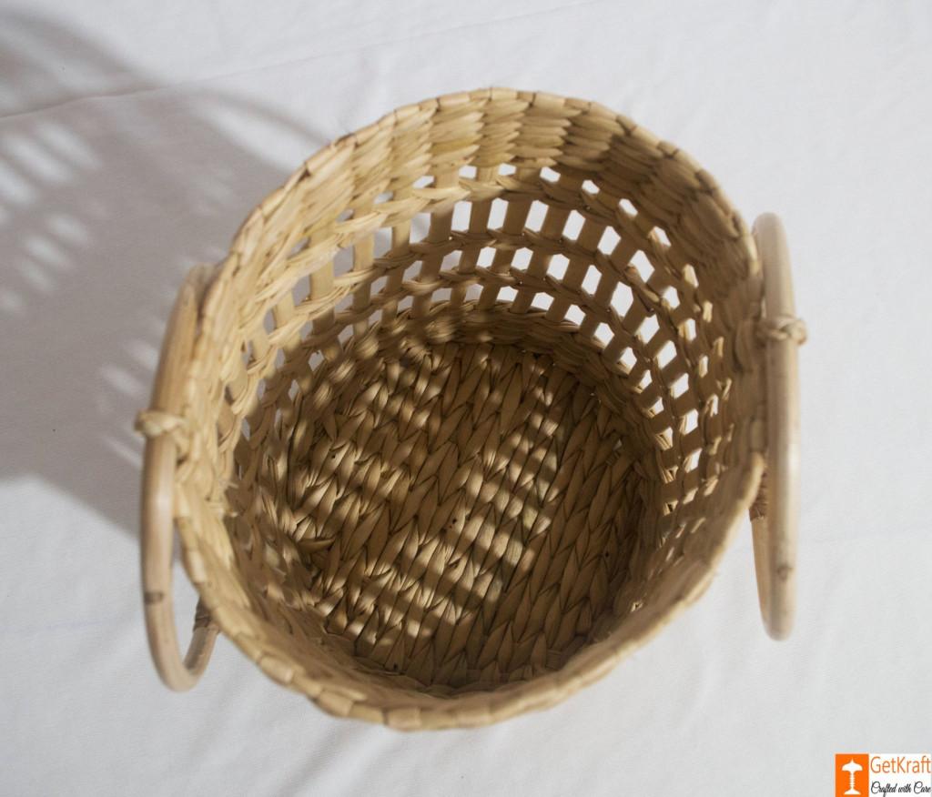 Kouna Cylindrical Designer Net Basket with Handle(#788)-gallery-2
