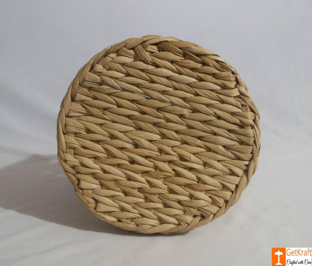 Kouna Cylindrical Designer Net Basket with Handle(#788)-gallery-3