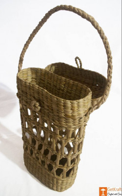 Kouna Tiffin Box or Water Bottle Carrying Basket(#789)-gallery-0