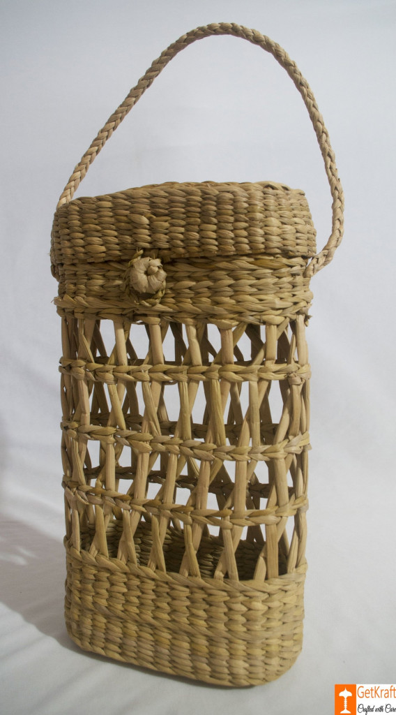 Kouna Tiffin Box or Water Bottle Carrying Basket(#789)-gallery-2
