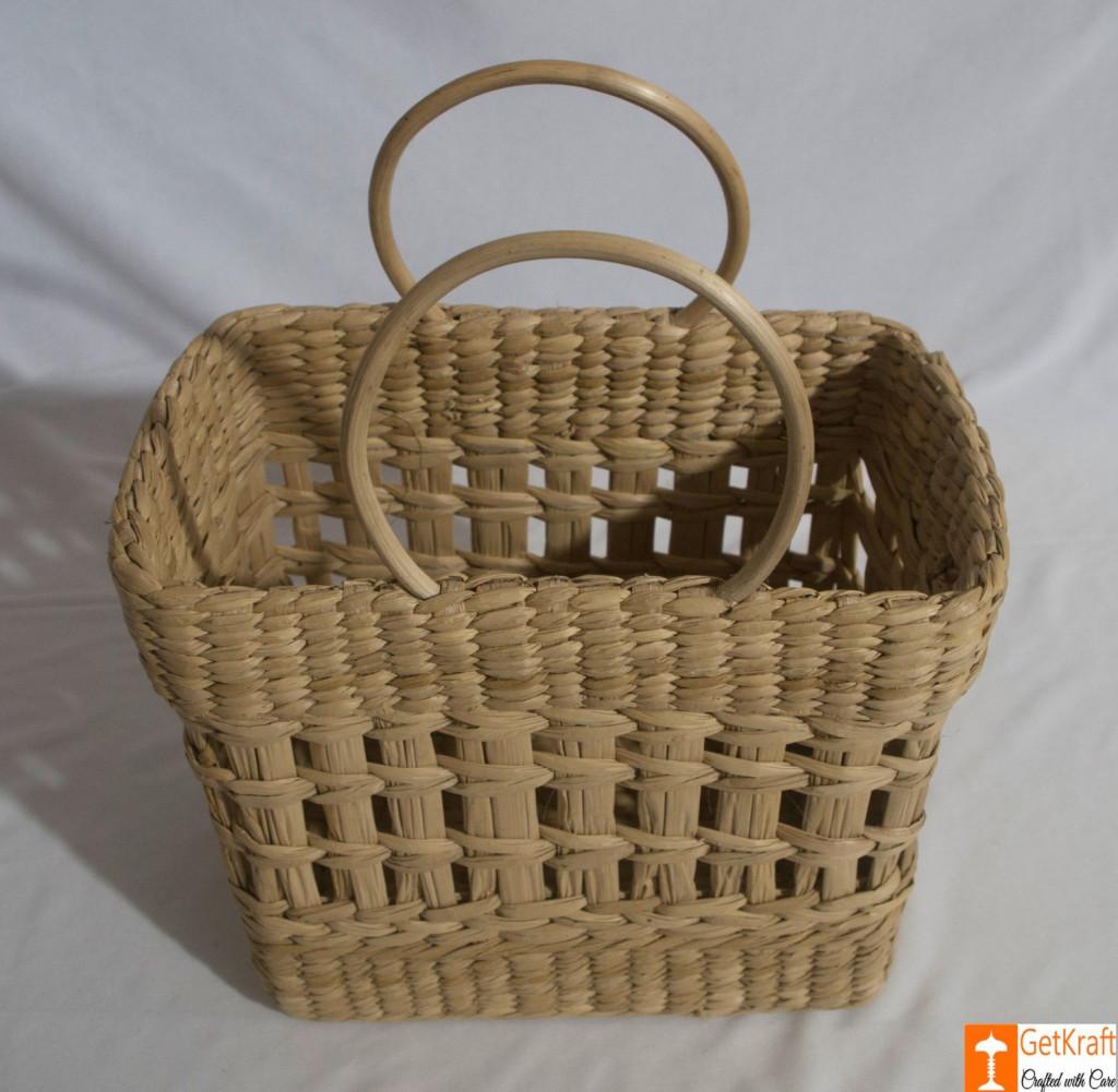 Natural Straw Handmade Net Shopping Bag(#792)-gallery-1