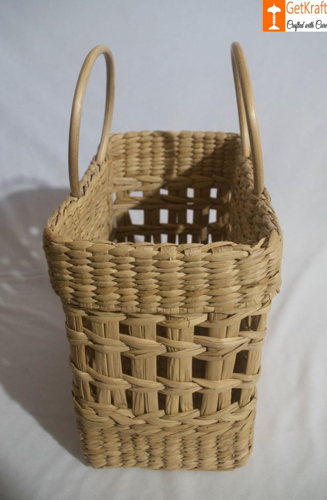 Natural Straw Handmade Net Shopping Bag(#792)-gallery-2