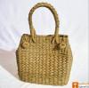 Medium Natural Straw Water Reed Handbag for Women(#794)-thumb-0