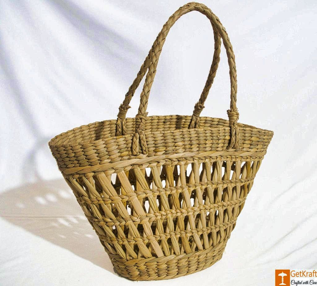 Natural Straw Tote Picnic Bag(#796)-gallery-0