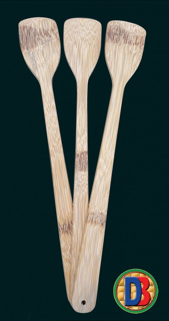 Bamboo Kitchen Cooking or Serving Spoon (Set of 3)(#800)-gallery-0