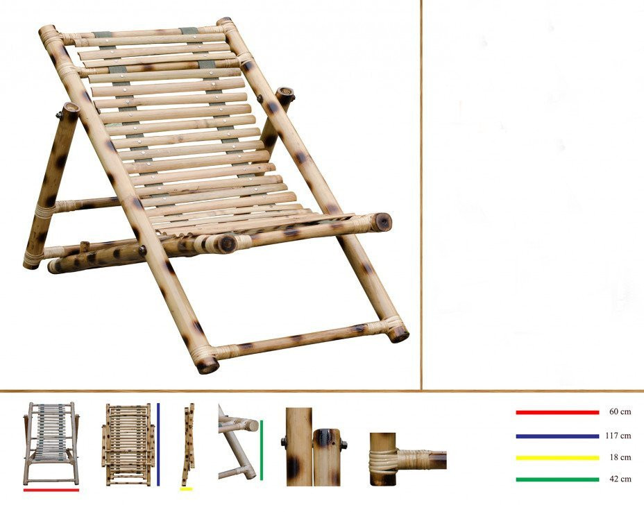 Bamboo Outdoor Foldable Relaxing Poolside Beach Garden Chair(#803)-gallery-0