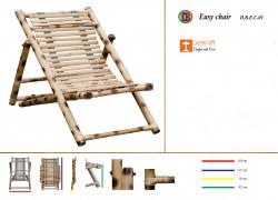 Bamboo Outdoor Foldable Relaxing Poolside Beach Garden Chair(#803) - getkraft.com