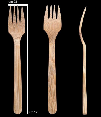 DB Bamboo 5 Piece Fork Set(#806)-gallery-0