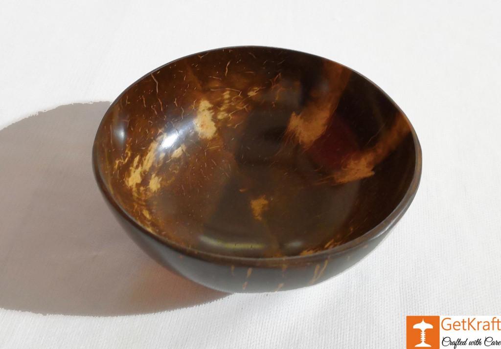 Stylish Coconut Shell Handmade Bowl(#808)-gallery-1