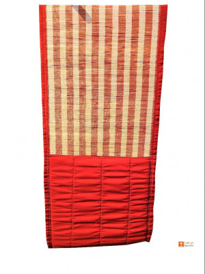 Multipurpose Yoga-Prayer-Resting Mat Elephant Grass Mat with Velcro Closure and Carry Handle(#809)-gallery-0