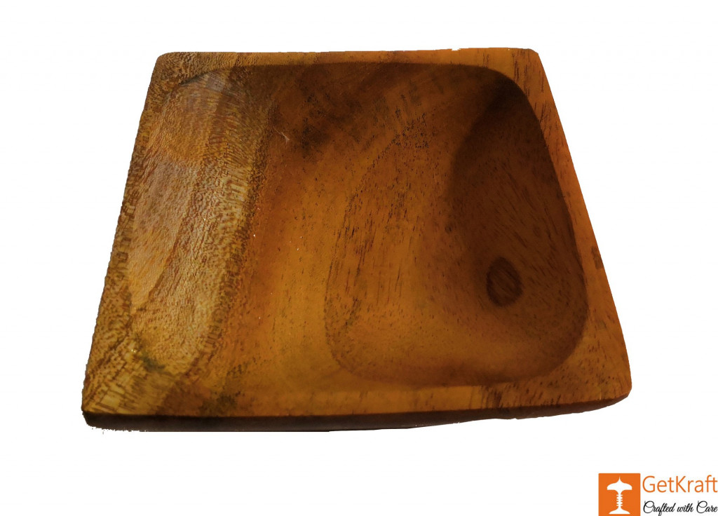 Wooden Acacia Snacks and Fruit Bowl(Set of 3)(#812)-gallery-2