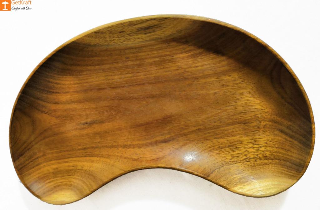 Wooden Kidney-Shaped Tray Key Tray-Catch all Tray-Valet Tray(#817)-gallery-0