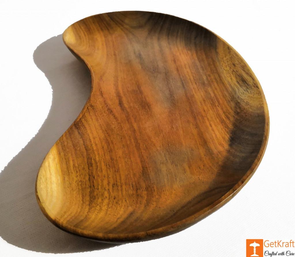Wooden Kidney-Shaped Tray Key Tray-Catch all Tray-Valet Tray(#817)-gallery-1