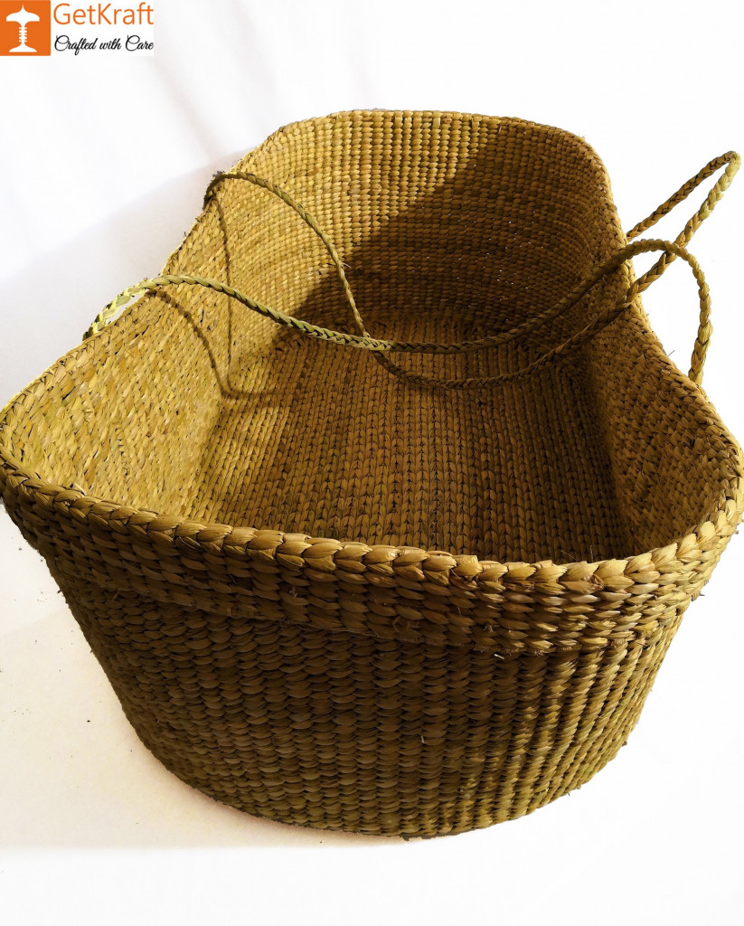 Baby Basket made from Kauna-Water Reed(#825)-gallery-1
