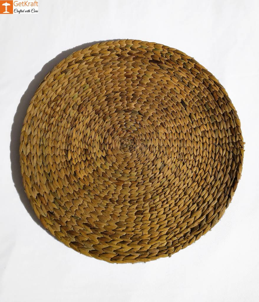 Natural Straw Table Mat - Round Natural Mat - Diameter 40cm(Set of 4)(#830)-gallery-0
