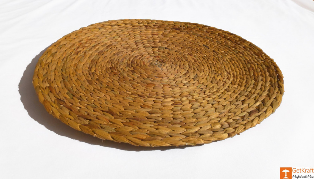 Natural Straw Table Mat - Round Natural Mat - Diameter 40cm(Set of 4)(#830)-gallery-1