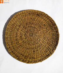 Natural Straw Table Mat - Round Natural Mat - Diameter 40cm(Set of 4)(#830) - getkraft.com