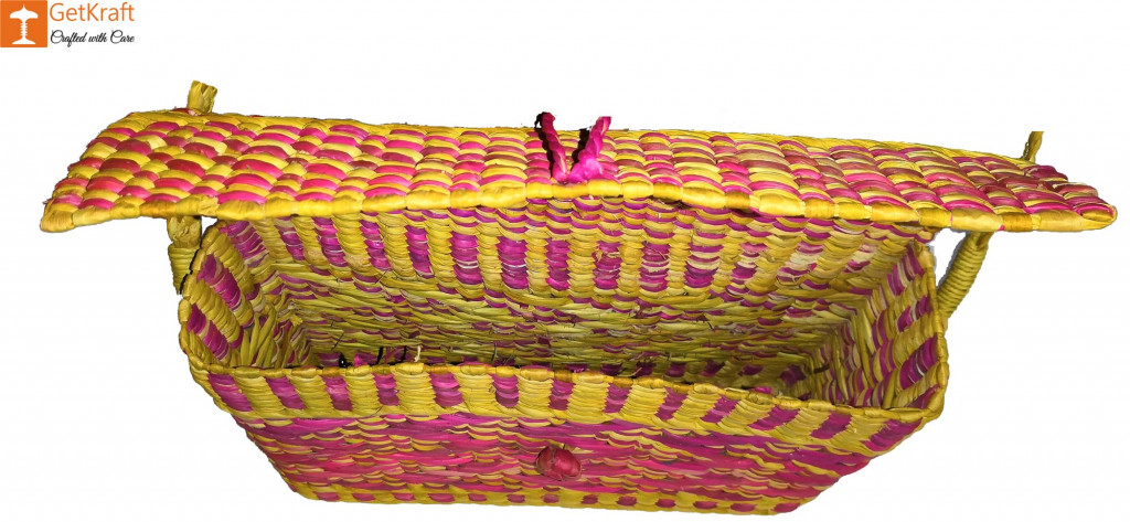 Natural Water Reed Grass Kauna Bag Purse(#847)-gallery-1