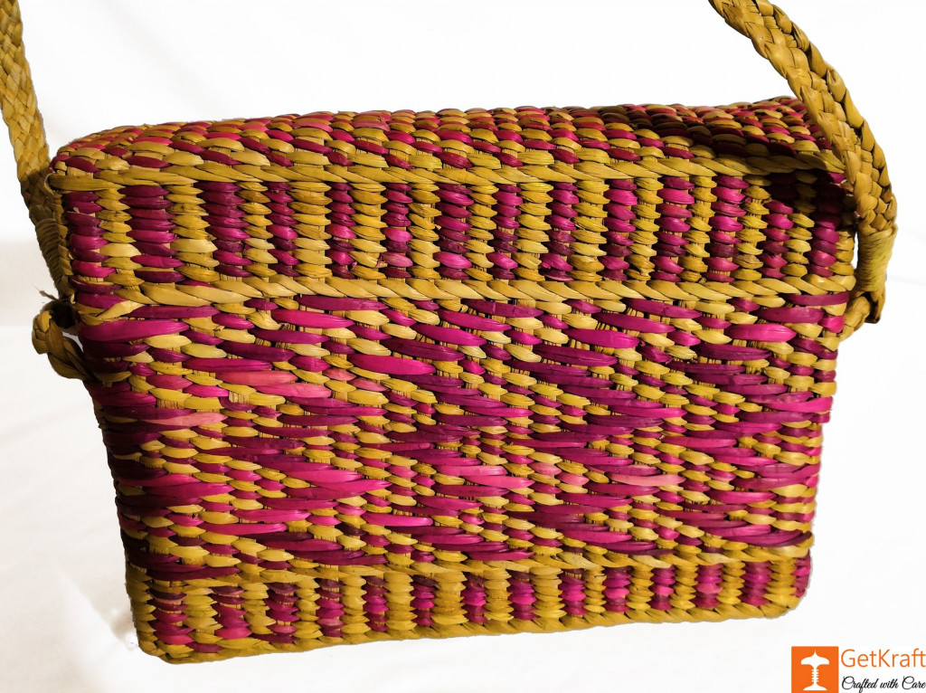 Natural Straw Water Reed Grass Bag Purse(#847)-gallery-2