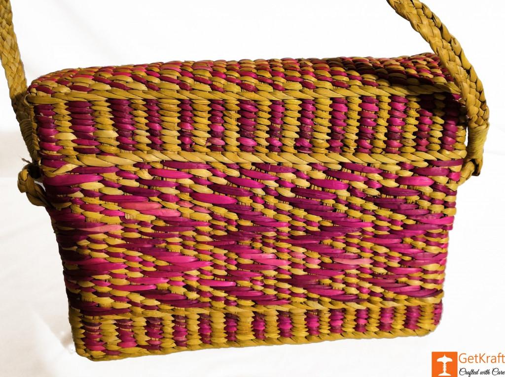 Natural Water Reed Grass Kauna Bag Purse(#847)-gallery-3