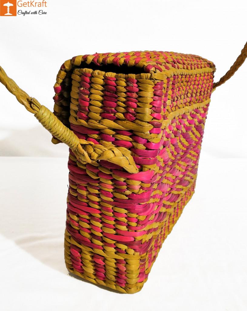Natural Water Reed Grass Kauna Bag Purse(#847)-gallery-4