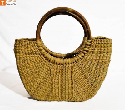 Natural Straw Mini U-Bag for Women(#848)-gallery-0