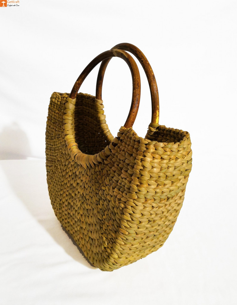 Natural Straw Mini U-Bag for Women(#848)-gallery-1