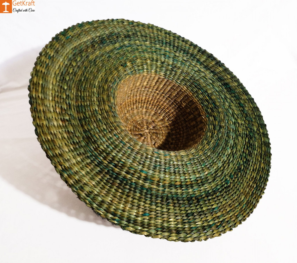 Natural Straw Trendy Round Hat(#850)-gallery-1