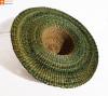 Natural Straw Trendy Round Hat(#850)-thumb-1