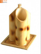 Pen Holder or Stand made from Bamboo(3 slots)(#851) - getkraft.com