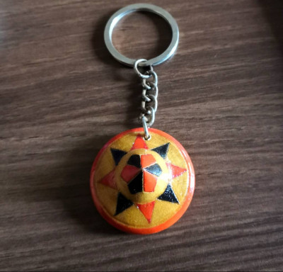 Colored Bamboo Key Ring Jaapi Design(Set of 3)(#853)-gallery-0