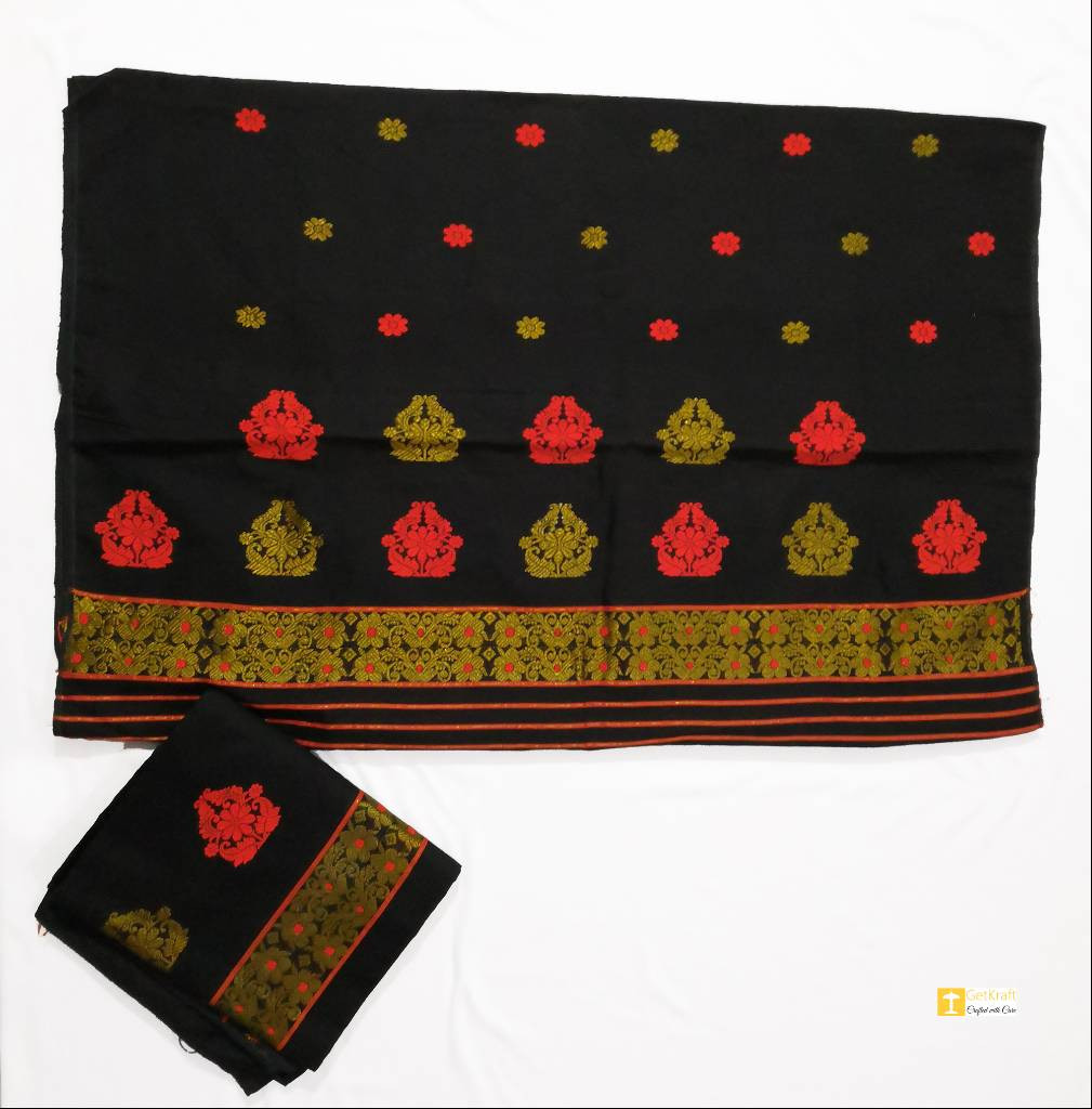 Traditional Assamese Mekhela Chadar(#855)-gallery-0