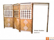 3 Panel Bamboo Wall Partition for Home Office Use(#861) - getkraft.com